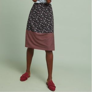 Anthropologie Skirts - Floral & Striped Skirt